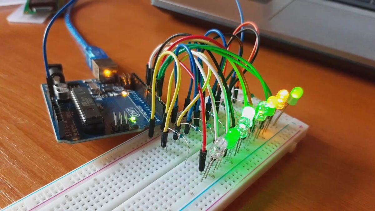 Binární čítač 8bit Arduino